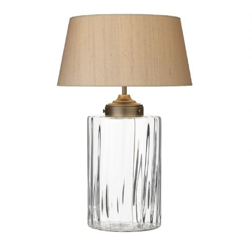 Kew Table Lamp Clear Glass Base Only KEW4208 (Hand made, 7-10 day Delivery)